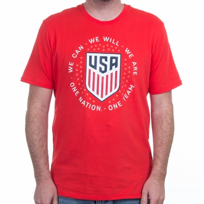 Men's Nike USA Pride Tee - Challenge Red - Click to enlarge