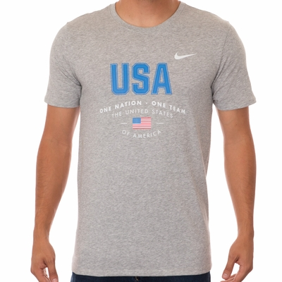 Men's Nike USA Verbiage Tee - DK Grey Heather - Click to enlarge