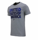 Nike USA Core Type Tee - Heather Grey
