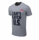 Nike USA QT Verbiage Tee - Grey Heather