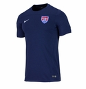 Nike USA Squad SS Training HTR Top - Navy