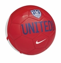 Nike USA Supporter Soccer Ball - Red