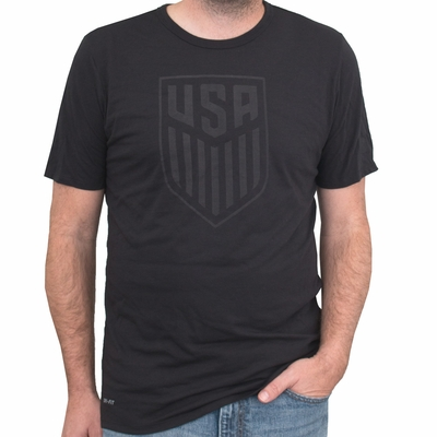 Nike USA Tonal Crest Tee - Black - Click to enlarge
