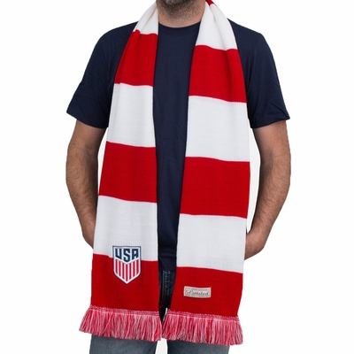 U.S. Soccer Commemorative Limited Edition Premium Knit Scarf - Click to enlarge