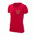 Women's Nike USA Donovan 10 Tee - Red
