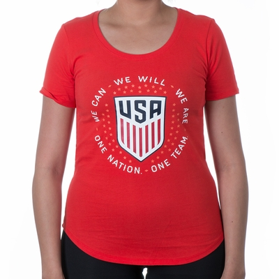 Women's Nike USA Pride Tee - Challenge Red - Click to enlarge