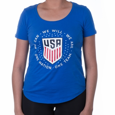 Women's Nike USA Pride Tee - Game Royal - Click to enlarge