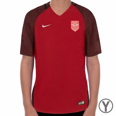 Youth Nike USA 2017/2018 Stadium Red Jersey - Click to enlarge