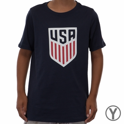Youth Nike USA Crest Tee - Obsidian - Click to enlarge