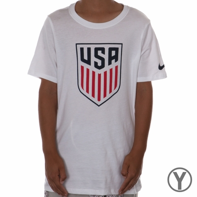 Youth Nike USA Crest Tee - White - Click to enlarge