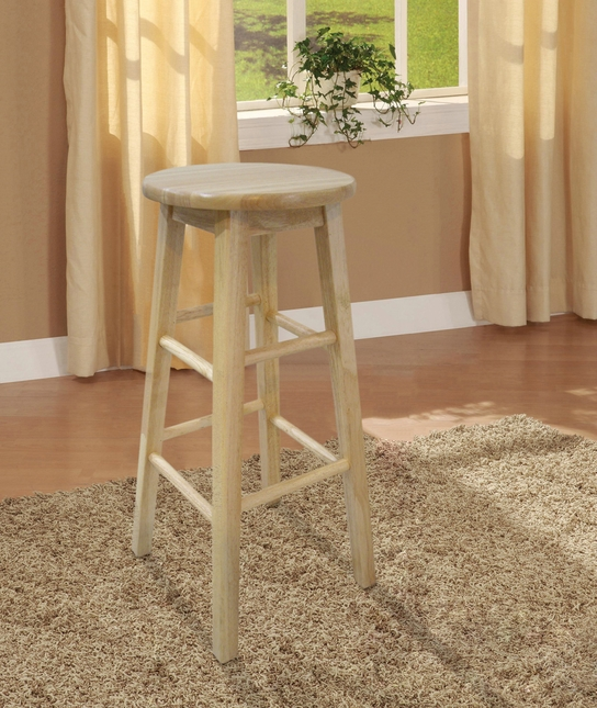 Natural Finish Counter Height Bar Stool