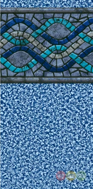 30ft Round Liberty 25yr 52in Uni Bead Above Ground Swimming Pool Liner With Mosaic Pattern
