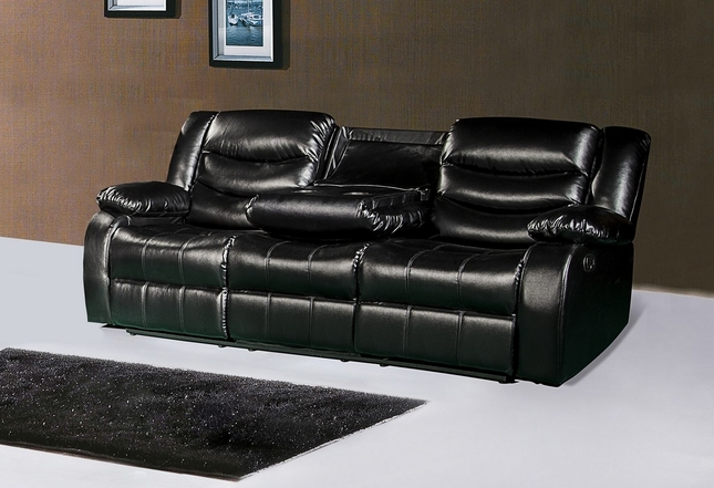 Recliner Sofa With Console Grey Living Room Ideas