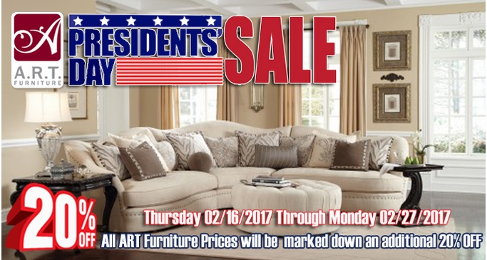 A.R.T. Furniture President's Day Sale additional 20% OFF