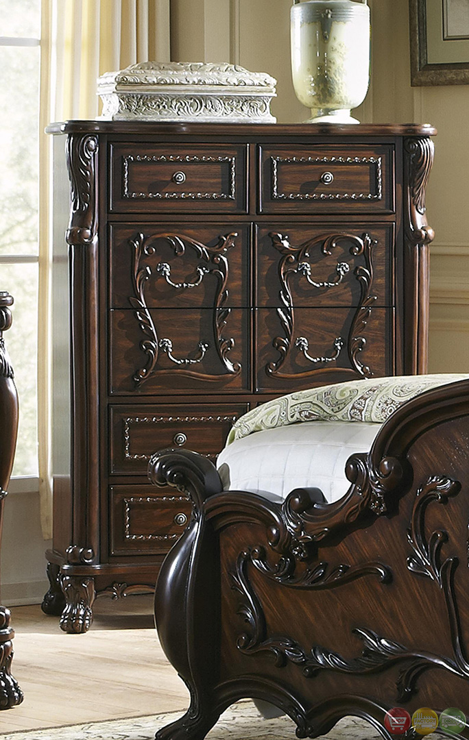 Abigail Victorian Antique Style Cherry Bedroom Set