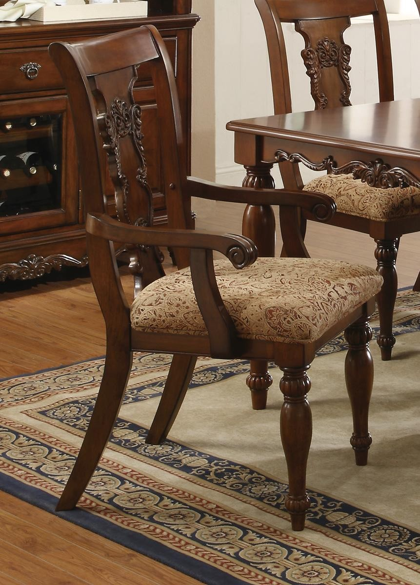 addison traditional dining room set cherry finish coaster