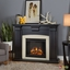 Adelaide Electric LED Heater Fireplace In Antique Black, 4700BTU, 51x39