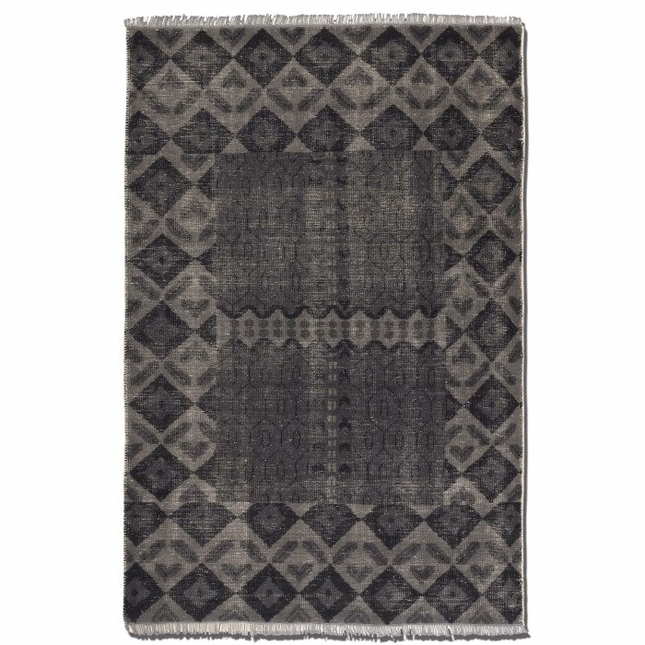 Aegean 6 x 9 Hand Knotted Aged Charcoal Rug 70005-6