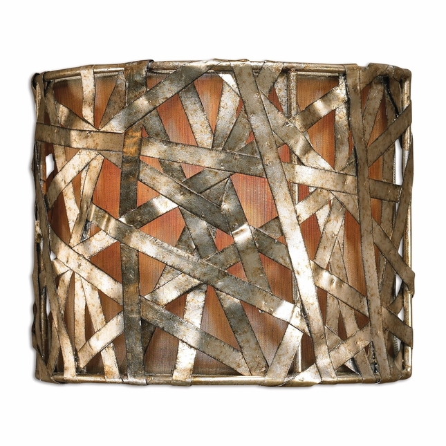 Alita Rustic Champagne 1 Light Wall Sconce 22464