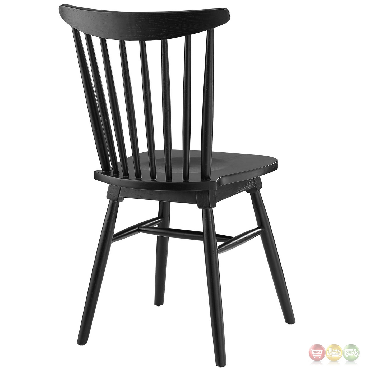 Amble Modern Country Inspired Spindled Wood Dining Side