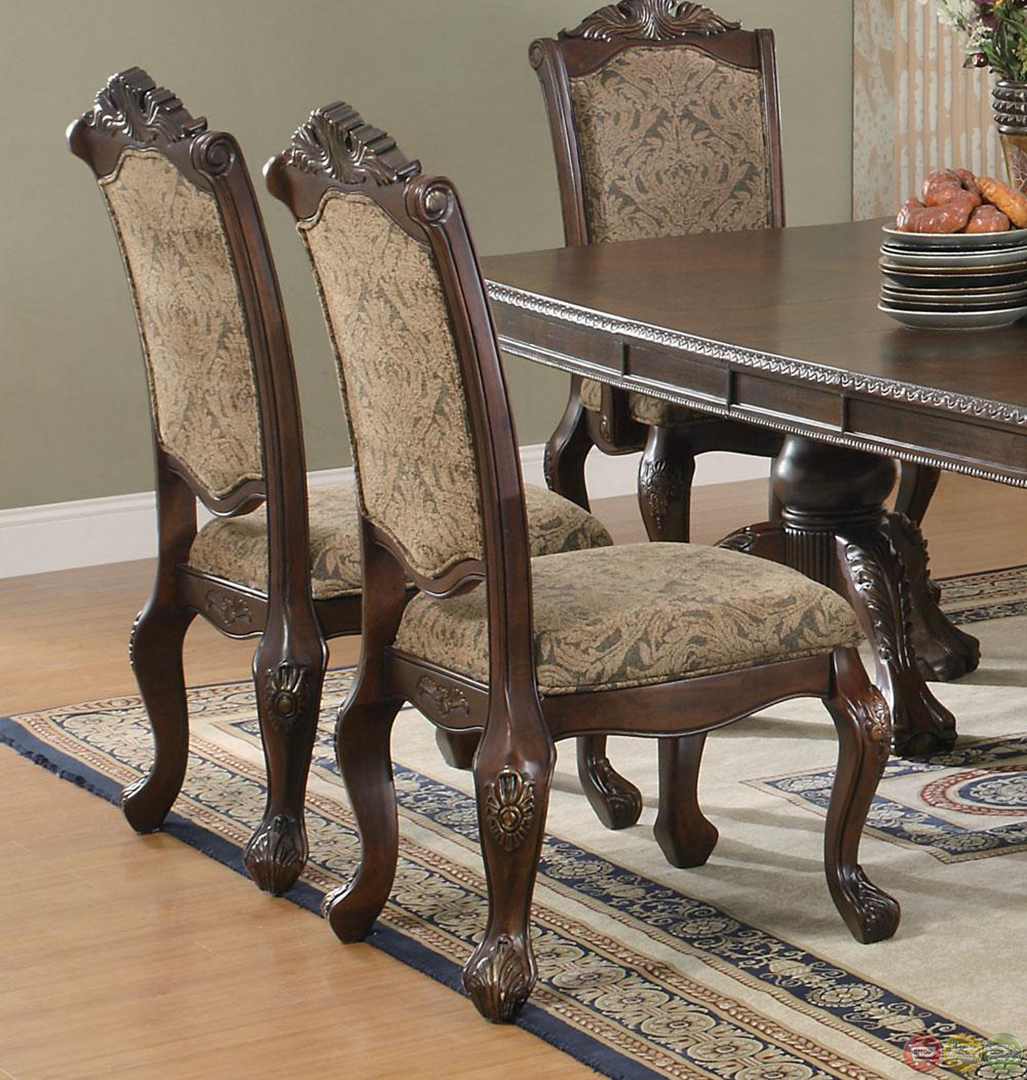 Traditional Dining Room Sets: Andrea Cherry Finish Formal Dining Room Table Set