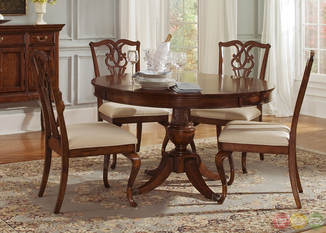 ansley manor round formal dining room furniture set intrigue transitional round glass top table amp chairs