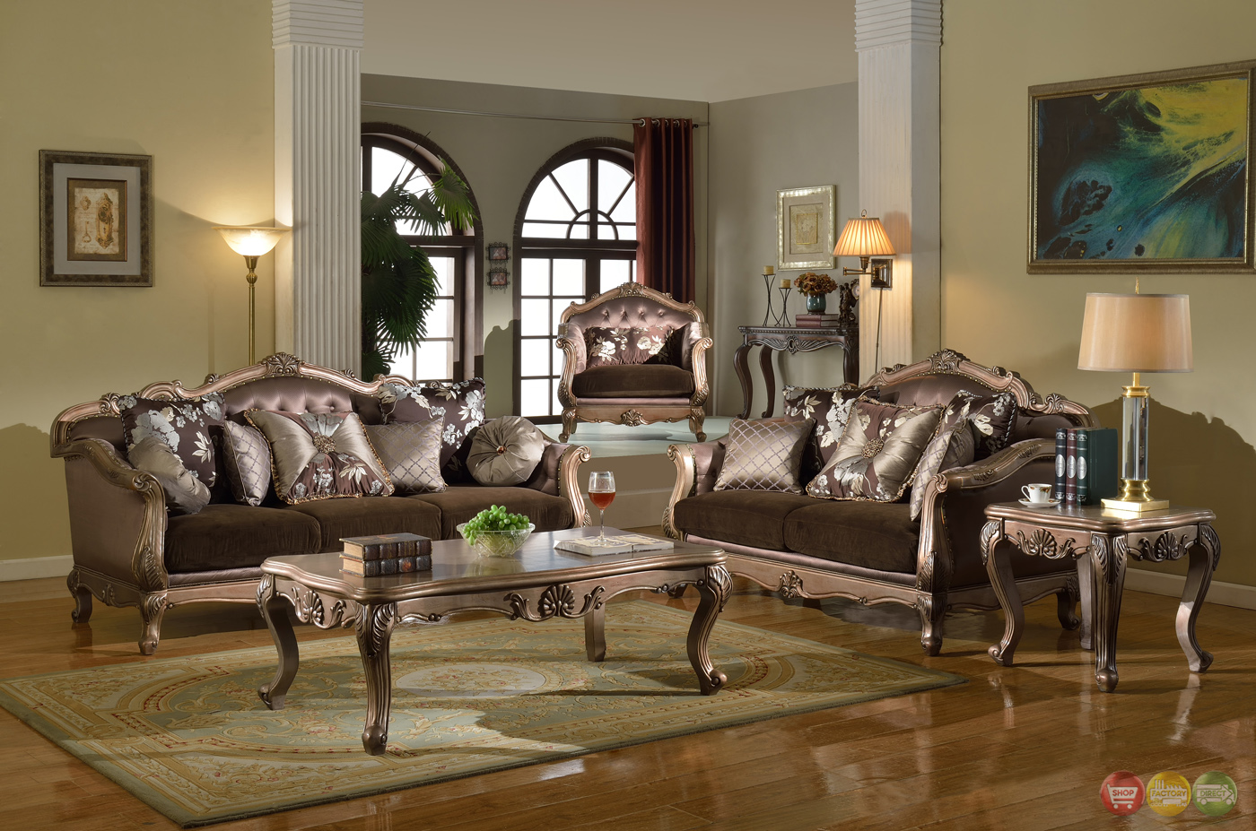 antique style traditional sofa loveseat luxury living room