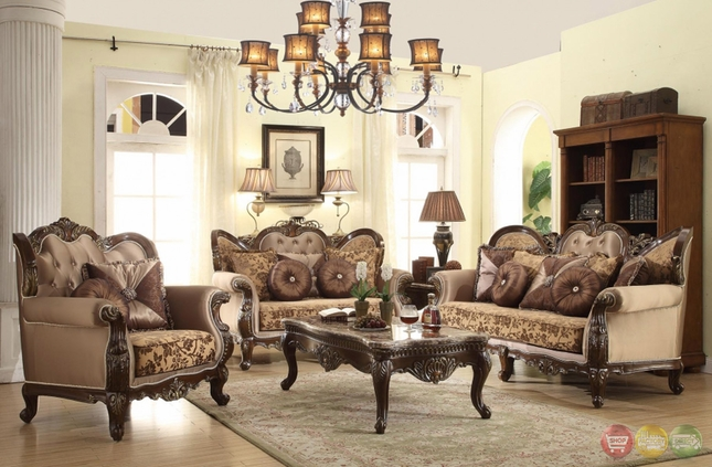 antique style wing back sofa love seat french provincial