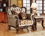 Antique Style Wing Back Sofa & Love Seat French Provincial Living Room Set