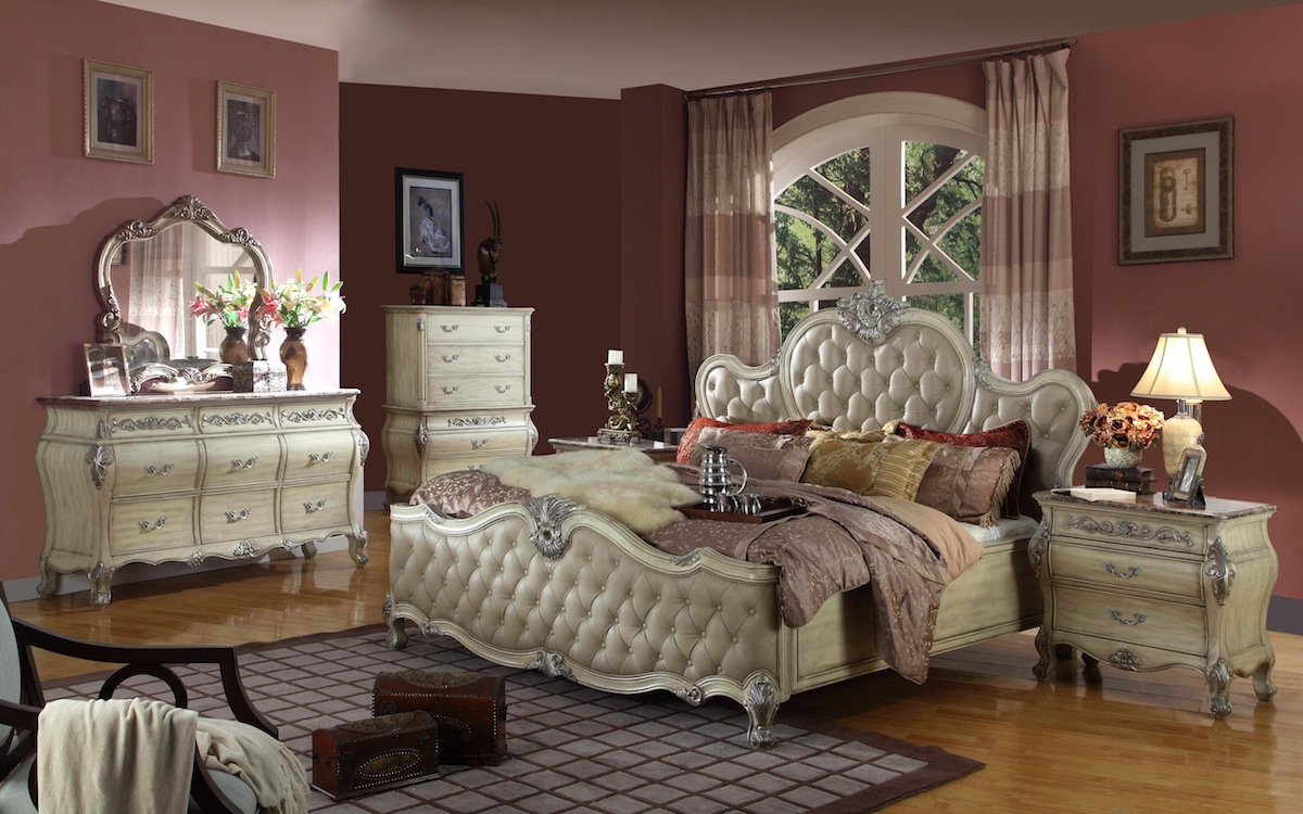 bedroom set w marble top free shipping