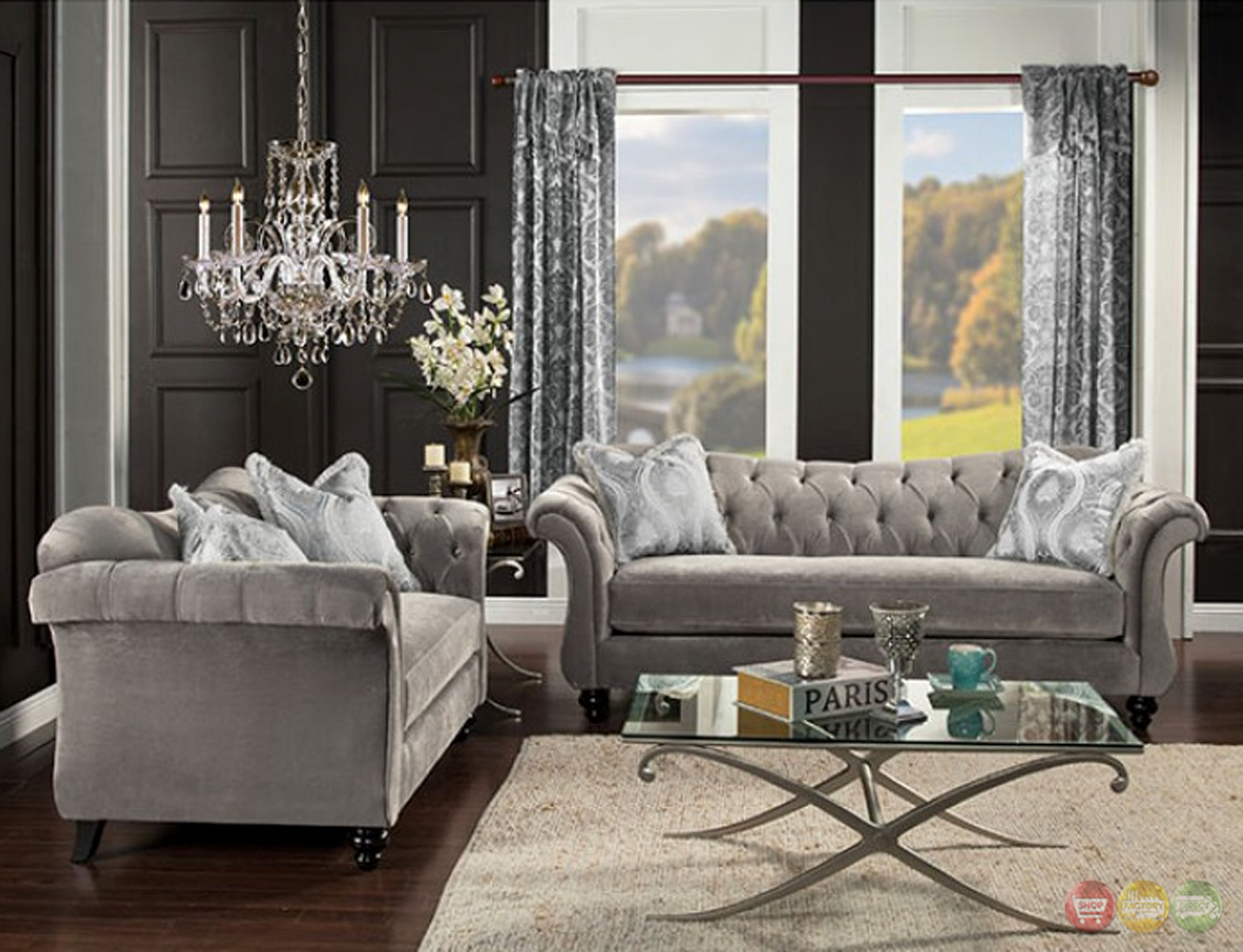 Luxury Gray Living Room Sets