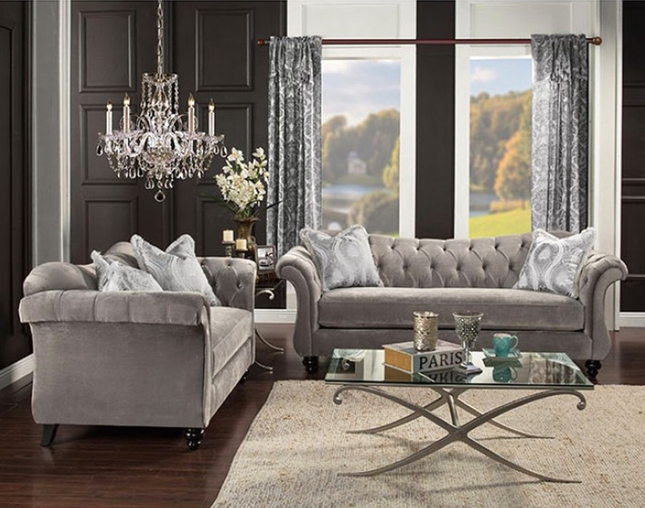 Gray Chesterfield Sofa Gray Velvet Sofa Shop Factory