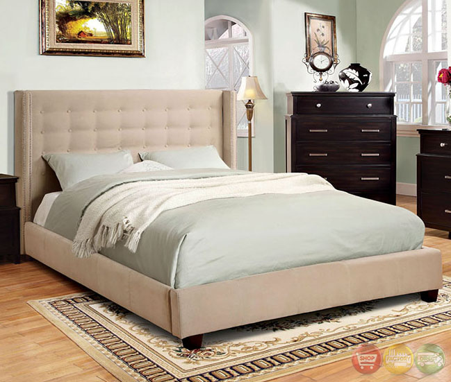 artemis contemporary ivory platform bedroom set with
