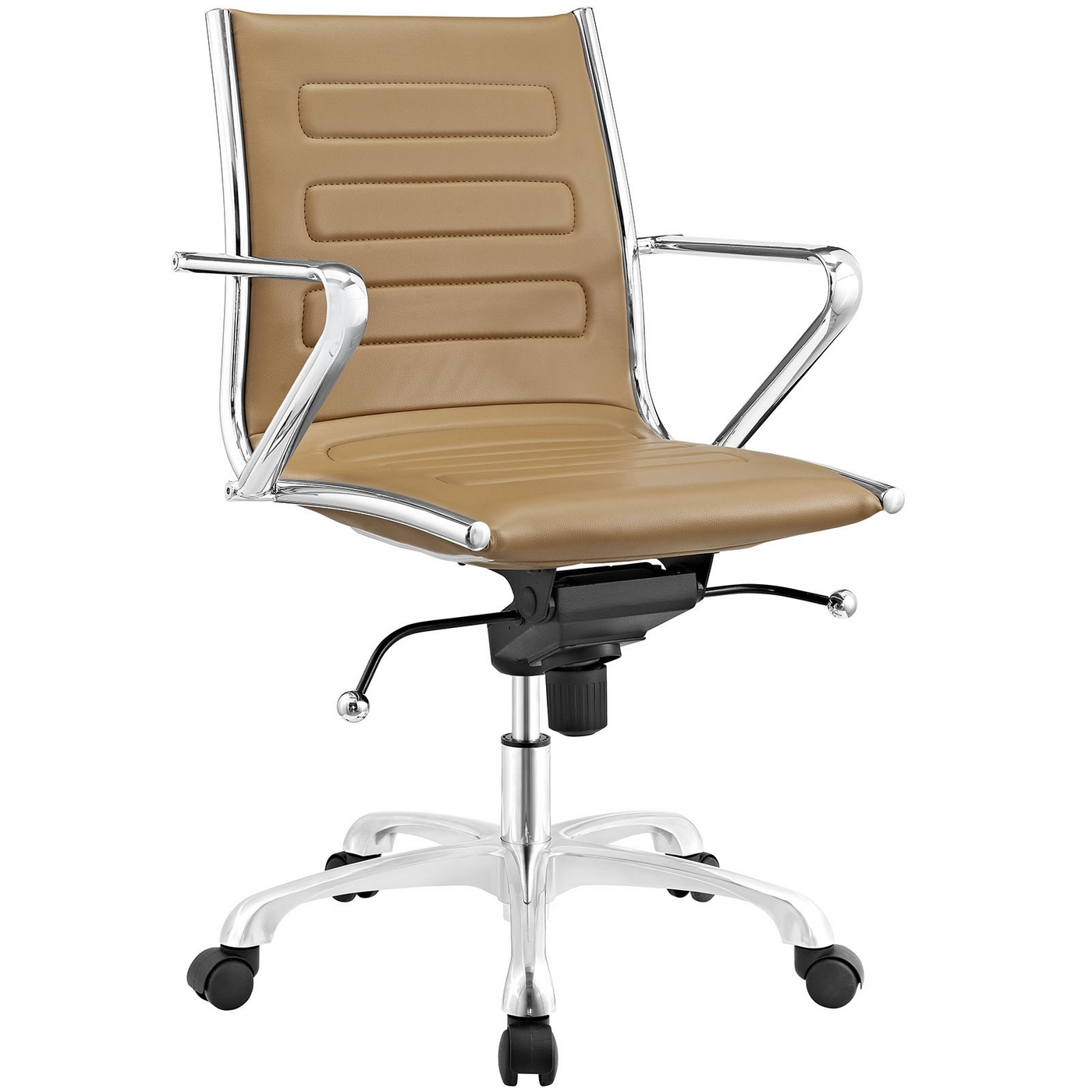 vale furnishers executive office chair in tan leather winston tan
