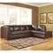Ashley Fairplay Sectional W/ Right Side Chaise In Mahogany Durablend Leather