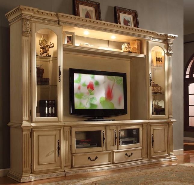 Athens Classic Antique White 62 Quot Tv Entertainment Center