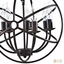 Atom Vintage Modern Nucleus-inspired 7-bulb Chandelier In Solid Steel, Brown