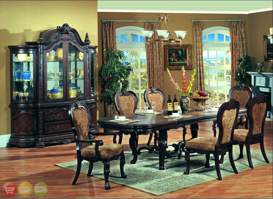 Aurora Formal Dining Room Furniture Set Upholstered Chairs Free