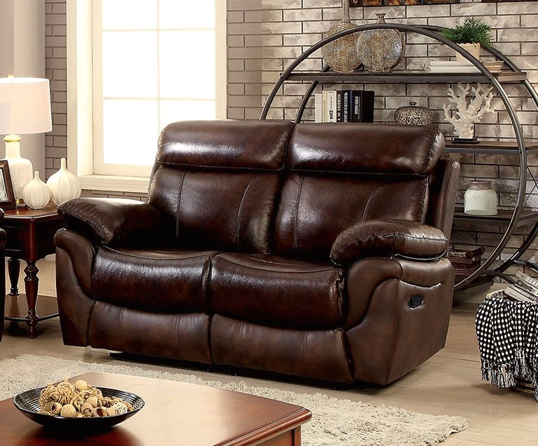 Bailey Traditional Brown Dual Reclining Sofa Amp Loveseat In