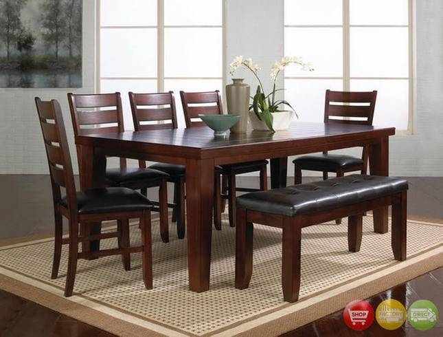 Bardstown Dining Room Set Table Chair Dark Oak Finish