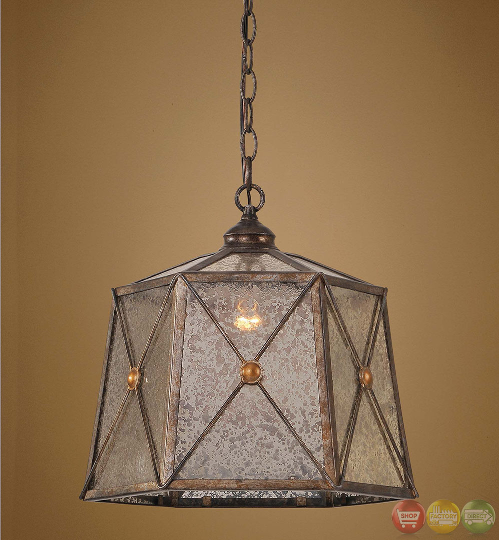 Basiliano Rustic 1 Light Pendant 21991