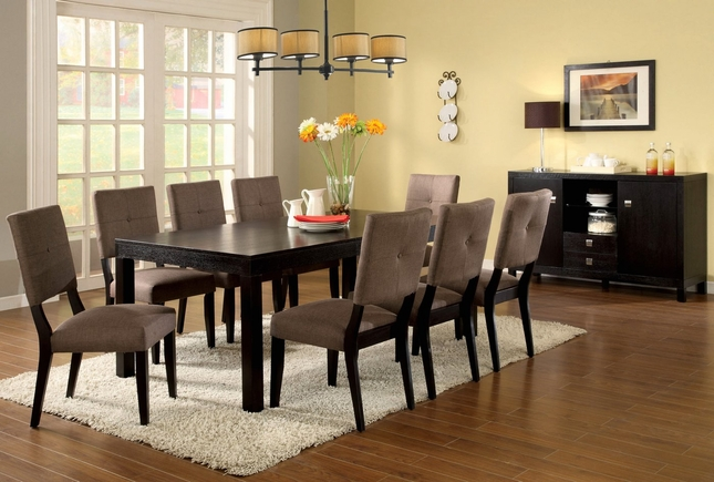 Bay Side I Contemporary Espresso Formal Dining Set w/Padded Seat