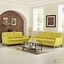 Beguile 2pc Upholstered Button-tufted Sofa & Loveseat Set, Sunny