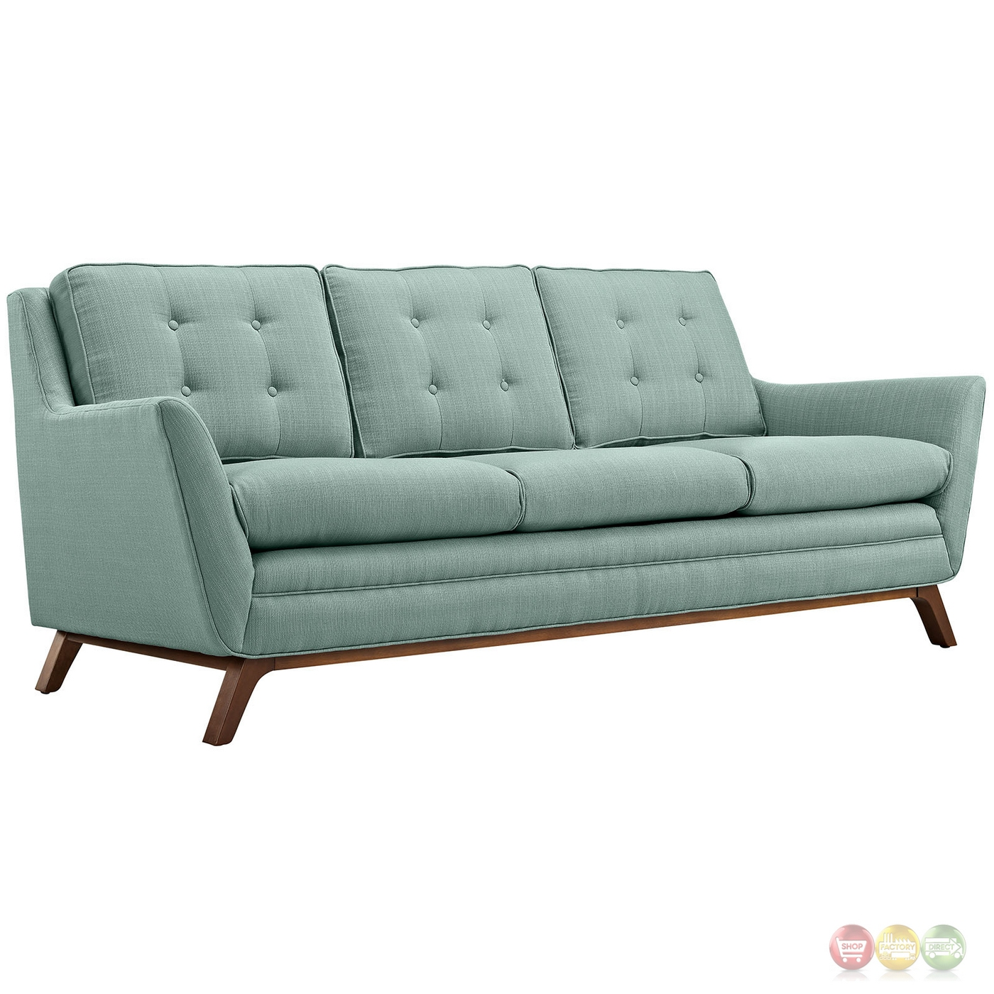 Beguile 3pc Upholstered Button Tufted Sofa Set W/ Wood Legs Laguna. Full resolution  photograph, nominally Width 1400 Height 1400 pixels, photograph with #67412A.