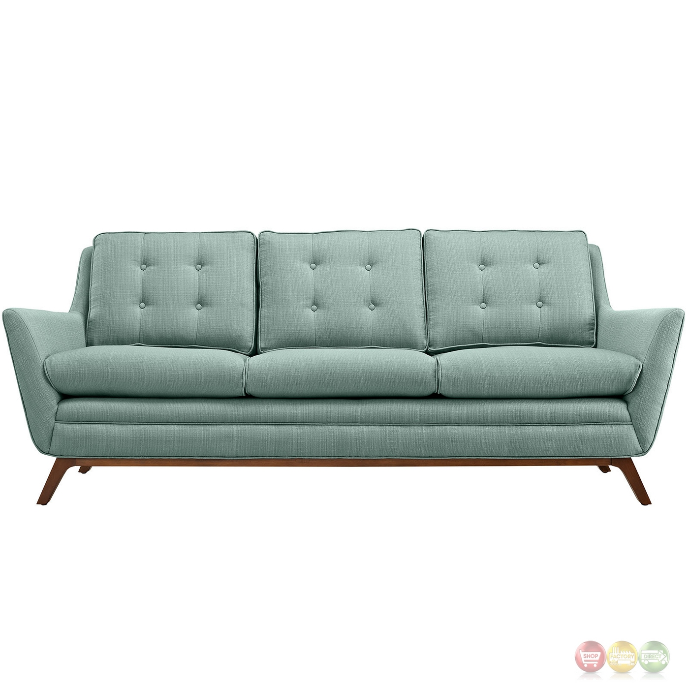 Beguile Contemporary Button Tufted Upholstered Sofa Laguna