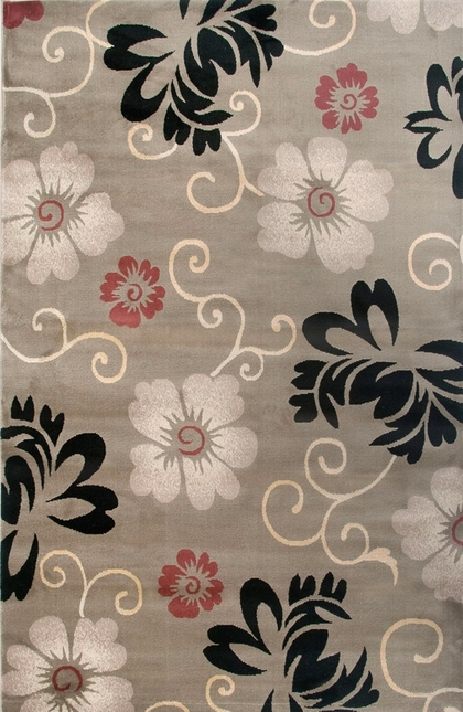 Rizzy Rugs Beige Floral Power Loomed Area Rug Bayside BS3574