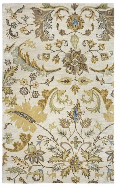 Rizzy Rugs Beige Foliage Hand Tufted Area Rug Volare VO1607