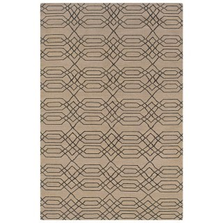 Rizzy Rugs Beige Geometric Hand Woven Dhurrie Area Rug Swing SG0381