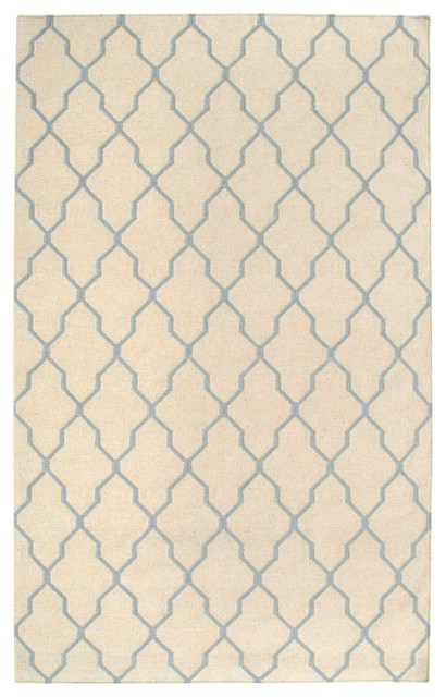 Rizzy Rugs Beige & Light Gray Lattice Hand Woven Dhurrie Area Rug Swing SG2963