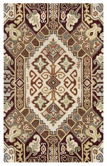Rizzy Rugs Beige & Red Southwest Hand Tufted Area Rug Southwest SU8105